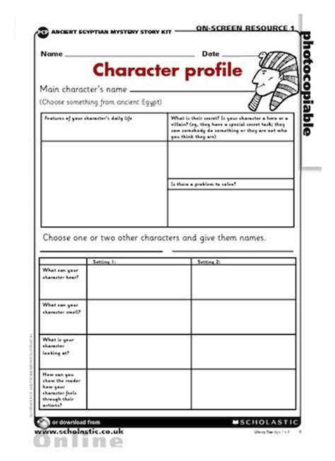 ancient character profile primary ks2 teaching