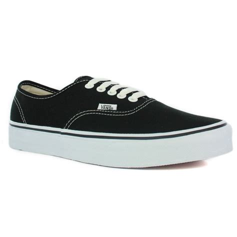 black shoes vans authentic black unisex trainers shoes ebay