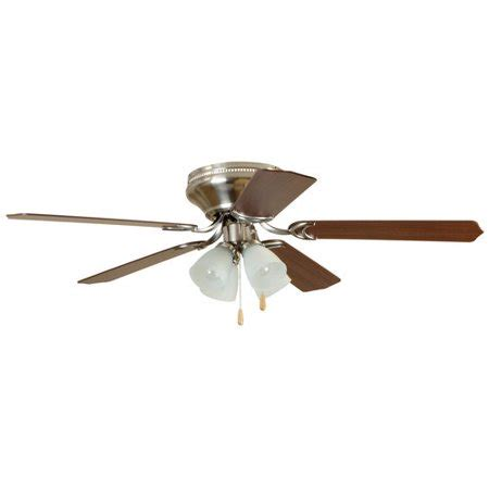 walmart ceiling fans with lights chapter 52 quot 4 light satin nickel ceiling fan walmart com