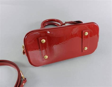 Lv Alma Vernish Mini louis vuitton alma bb in cherry vernis mini size at 1stdibs