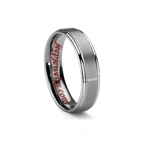 mm mens  womens brushed tungsten carbide wedding ring