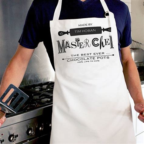 best chef apron personalised best chef apron by lovehart