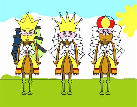 imagenes reyes magos en camello dibujo de reyes magos en camello pintado por en dibujos
