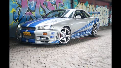 nissan r34 paul walker taking paul walker s nissan skyline to a car meet in