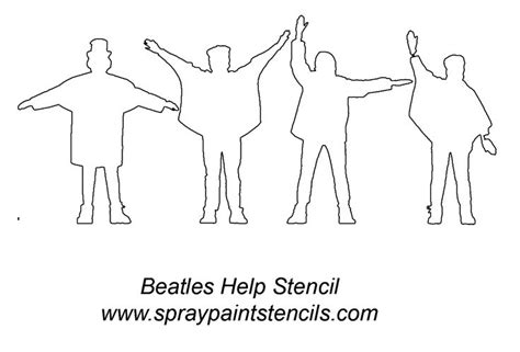 Kaos The Beatles Logo Stencil 39 best stencils images on stencils painting