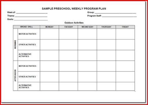 The Creative Curriculum For Preschool Lesson Plan Template