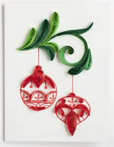 Christmas Ornament Covers - christmas ornament ge533 quilling card