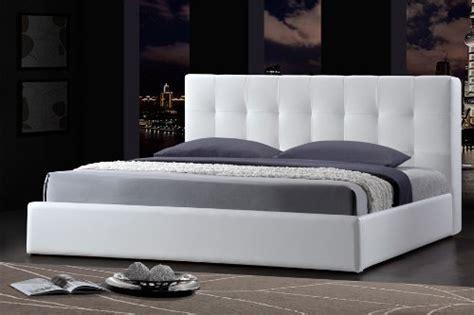 lit futon 200x200 cama 200x200 con armazones de cuero blanco para fut 243 n