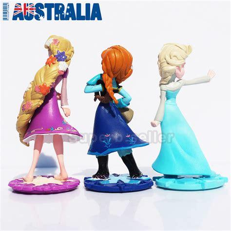 Figure 4 Pcs Princess Frozen Snow White Cake Topper Mainan Anak 3x frozen princess elsa rapunzel cake topper disney figure figurine ebay