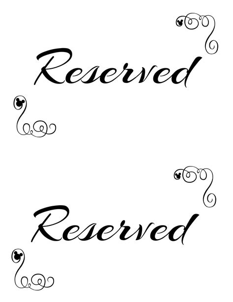 printable reserved seating signs   wedding ceremony weddings reserved wedding