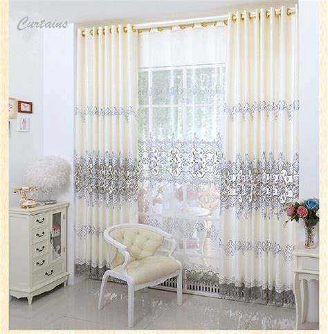 fashion europe embroidered window treatment drapes home