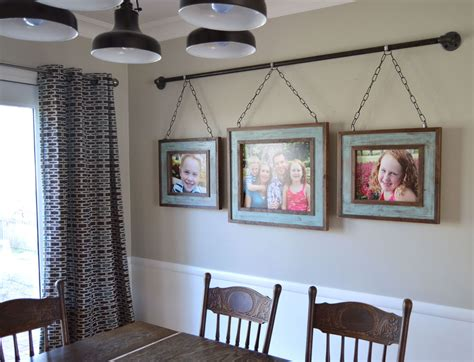 Wall Decorations For Dining Room Make A Big Impact With Wall Diy Decorating Family Photo Displays Iron Pipe