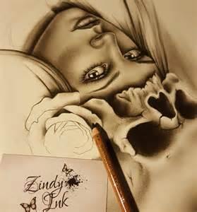skull rose zindy ink tattoo artist illustrator