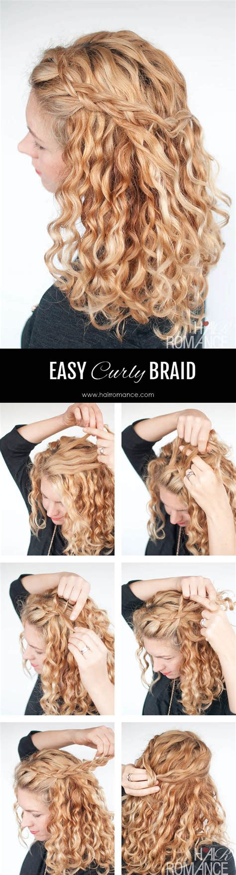 Easy Hairstyles For Curly Hair Braids by An Easy Half Up Braid Tutorial For Curly Hair Hair