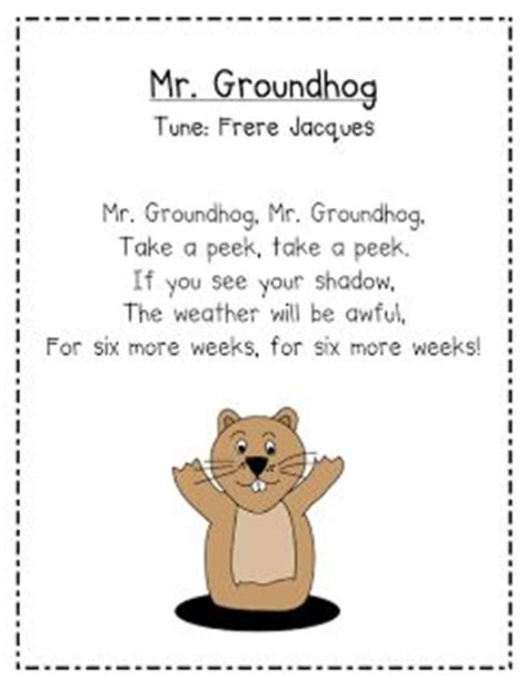 groundhog day kindergarten best photos of groundhog day craft poems ground hogs day