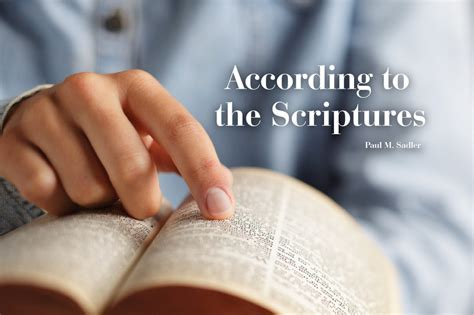 according to the scriptures the of in the testament and the new books booklet according to the scriptures berean bible society