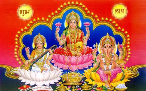 laxmi ganesh saraswati photo wallpaper  desktop  wallpaperscom