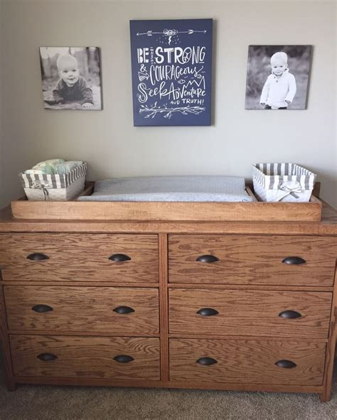 ana white bedroom dresser diy projects ana white dresser with removable changing station topper
