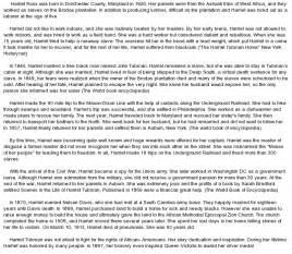 Harriet Essay harriet tubman at essaypedia