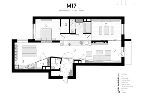 Gallery Apartment Floor Plan Gallery Of Apartment In Moscow M17 22