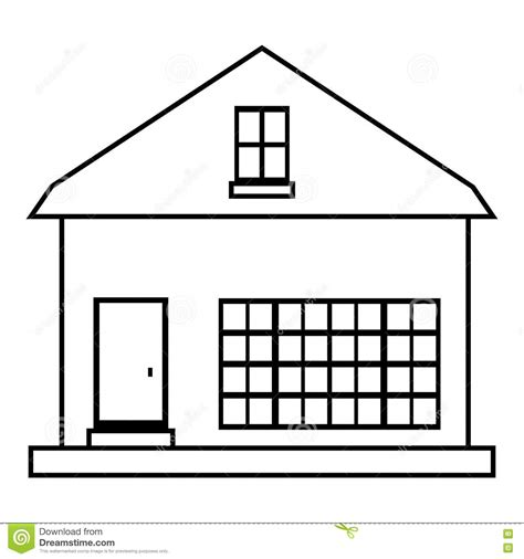 small rural house icon outline style stock vector