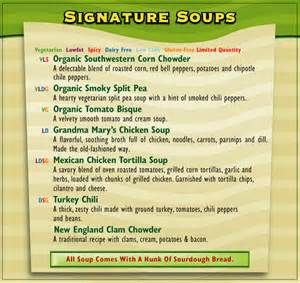 soup kitchen menu ideas san francisco soup company restaurant menu