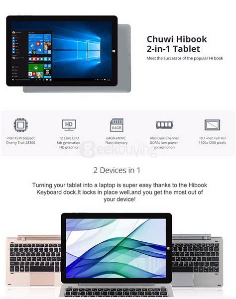 Tablet Pc Chuwi Hibook Pro 2in1 Ultrabook Type C 4gb 64gb 101 Gray chuwi hibook 10 1 inch win10 android 5 1 4gb 64gb ultrabook gray