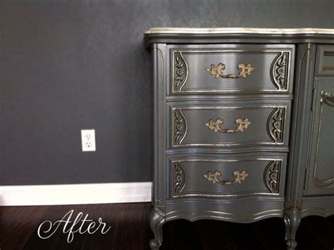 chagne metallic paint by modern masters helps detail bedroom furniture set makeover by