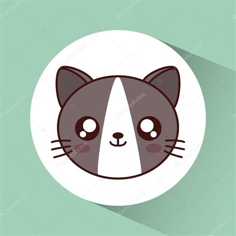 imagenes kawaii de gatos icono de gato kawaii lindo animal gr 225 fico vectorial
