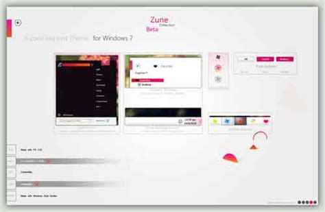 zune theme for windows 8 1 windows 7 skins 21 styles to download