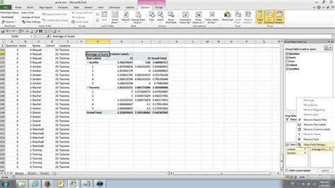 tutorial pivot table in excel excel pivot table graph tutorial youtube