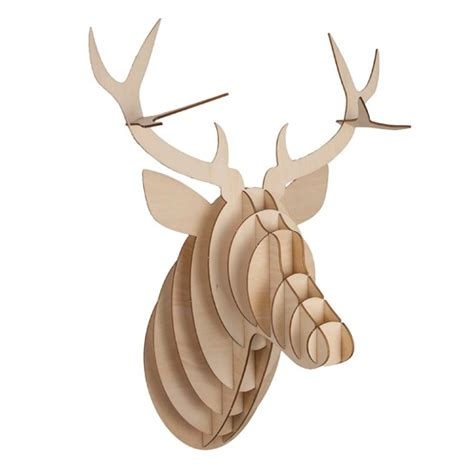wooden deer antlers from the contemporary home woodland