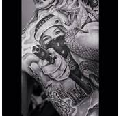 Gun Smoke Sketch Pirate Girl Blowing Tattoo Design Fresh