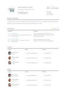 call sheet template studiobinder call sheet templates and sles