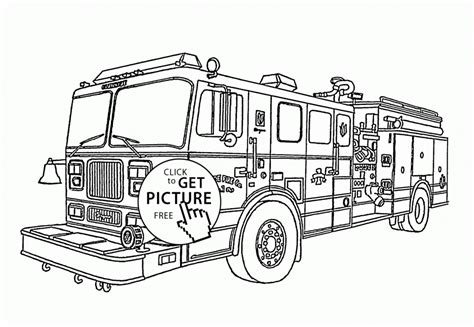 coloring page of a fire truck coloring pages cute cartoon fire truck coloring page for