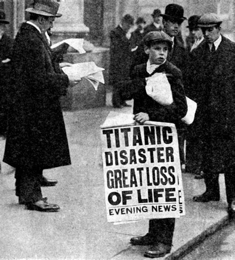 the loss of the s s titanic its story and its lessons books newspaper boy shortly after the titanic s sinking 1912