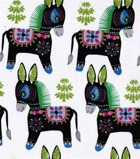 pinata donkey spanish mexican cotton fabric 5 yards