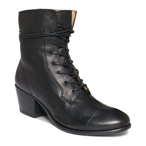 frye s lace up booties in black lyst