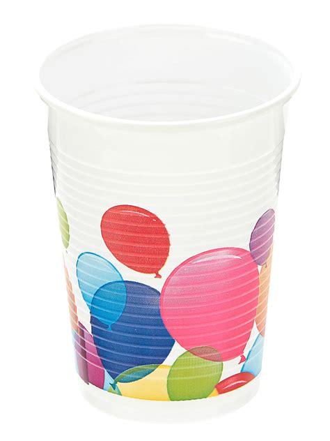 bicchieri di plastica colorati 10 bicchieri di plastica palloncini colorati addobbi e