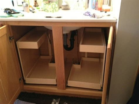 Bathroom Cabinet Organizer Ideas by Glide Out Bathroom Shelves Bathroom Cabinets And Shelves