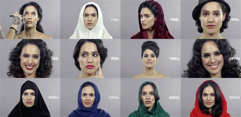 hair styles over the decades 100 years of changing iranian beauty hair and makeup in