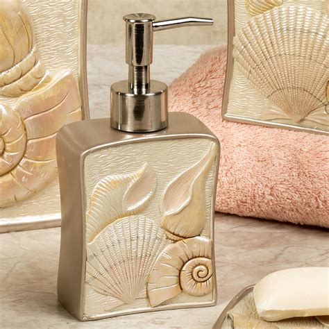 shell bathroom decor sea shell coastal bath accessories