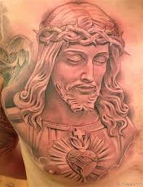 jesus head tattoo designs 70 mind blowing jesus tattoos for chest