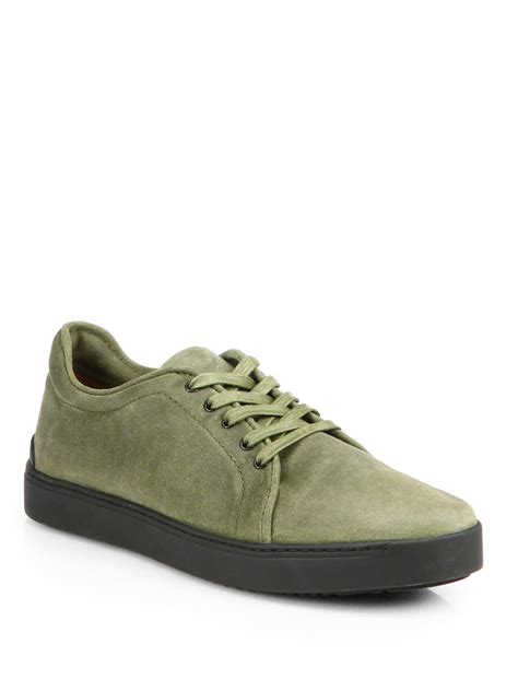 army green sneakers rag bone kent suede laceup sneakers in green for