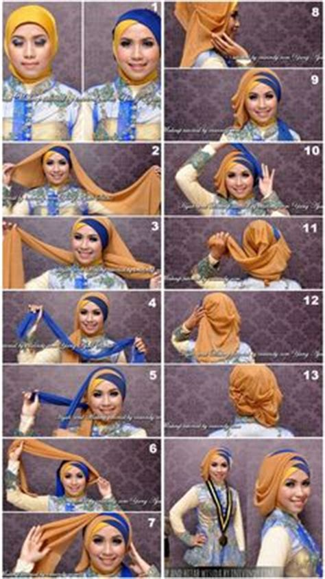 tutorial jilbab paris buat wisuda 1000 images about hijab hajoob and more on pinterest