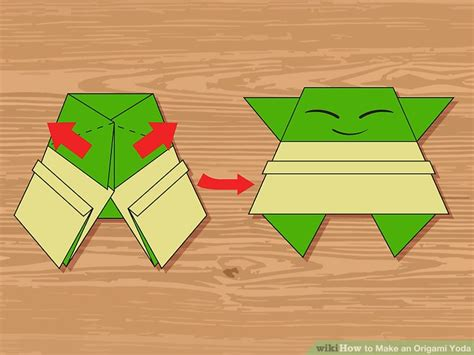 How To Make A Paper Yoda - 3 ways to make an origami yoda wikihow