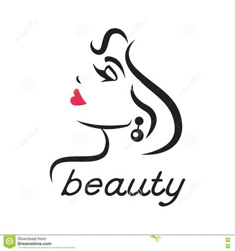 beauty layout vector vector beauty logo label design elements woman face