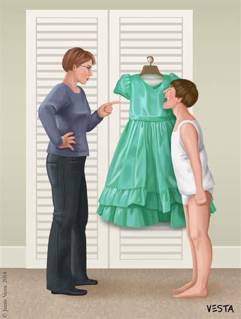 i was forced to wear a dress group with personal stories unhappy tommy by eves rib on deviantart