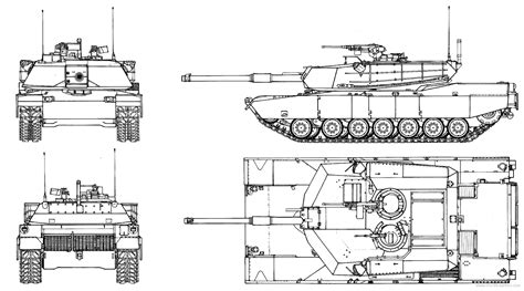 Online Blueprints by The Blueprints Com Blueprints Gt Tanks Gt Tanks M Gt M1 Abrams