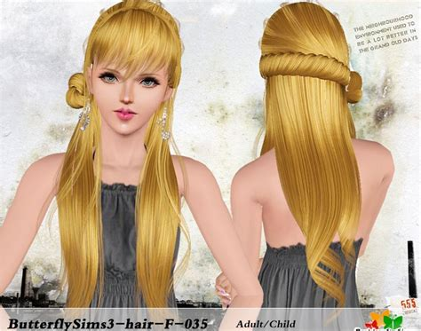 butterfly sims 3 male hair my sims 3 blog butterfly sims hair 035 for females